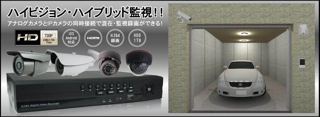 ハイビジョン防犯監視IPカメラ
